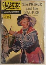 Classics Illustrated #29 Prince and the Pauper by Samuel L. Clemens (Hrn 150) Vg
