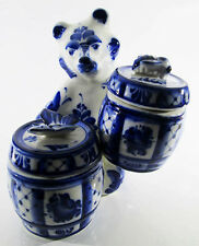 Food Storage Containers GZHEL Handpainted Bear Honey pot Barrel jar Butterfly 26