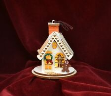 GINGER COTTAGES GINGERBREAD COTTAGE CHRISTMAS ORNAMENT MADE IN USA GC101