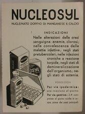 CARTA ASSORBENTE D' EPOCA CON PUBBLICITA'  FARMACEUTICA  NUCLEOSYL #189