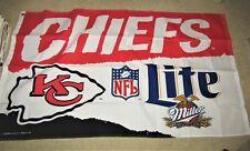 LITE beer KANSAS CITY CHIEFS 1996  3 FT x 5 FT cloth flag  MIB