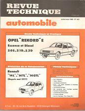 REVUE TECHNIQUE AUTOMOBILE 402 RTA 1980 OPEL REKORD E 2.0S 2.1D 2.3D R14 L TL GT