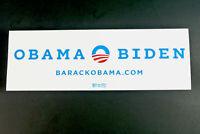 Obama Trump Biden 2012 Presidential Campaign Official Bumper Sticker White RARE!
