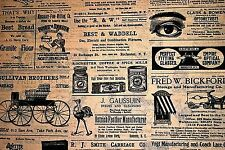 Reproduction Of Vintage Newspaper / Newsprint Ads Tissue Paper # 223