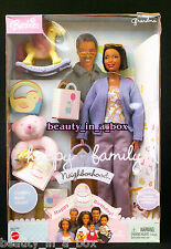 Grandma Happy Family African American Barbie Doll Grandmother NRFB Dented Box AA