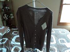 XS brown cardigan sweter.  old navy   gathered hem  cotton acrylic blend