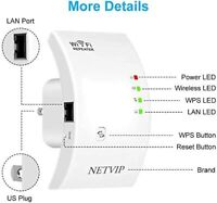 300Mbps WiFi Range Extender Signal Boosters for House, Superblast Boost WiFi..