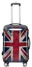 Carbon Hartschalen Reise Koffer Trolley Handgepäck Gr.L Motiv BB Union Jack