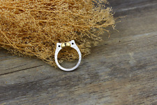 """Super Adorable """"Bear"""" Silver/Gold Ring Size: 6 7 8"""