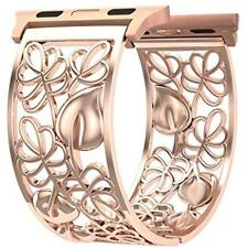 Apple Watch Band Smart Bands 38mm Rose Gold Women, Fresheracc Floral Hollow Out