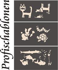 Malerschablone, Schablone, Wandschablone, Wandschablonen - 3er Set Kindermotive