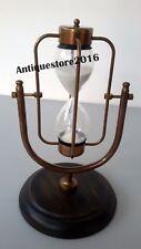 Marron Antique Marine Sable Minuterie Laiton Sablier nautique décoratif cadeau