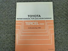 1983 1984 1985 1986 1987 Toyota Tercel 4WD Body Collision Service Repair Manual