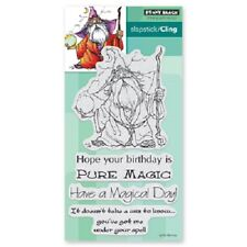 PENNY BLACK RUBBER STAMPS SLAPSTICK CLING WIZ WIZARD NEW cling STAMP