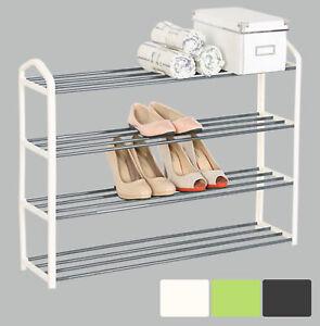 XXL Schuhablage Schuhregal Schuhständer Ständer 4 Schicht aus Metallrohr #512