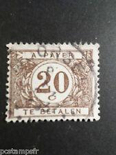 BELGIQUE 1922-38, timbre CLASSIQUE TAXE n° 34, CHIFFRE, oblitéré