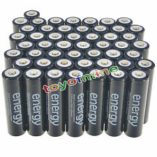 50pcs 18650 3.7V 10000mAh Energy Li-ion Rechargeable Battery Black Cell USA