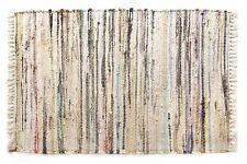 """Sturbridge Rag Rug Carpet Runner in Neutral Stone Color, 24"""" x 72"""", 100% Cotton"""