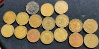 Lot Collection - 17 Old 10 pfennig Germany coins  14 coins 1950 3 coins 1949