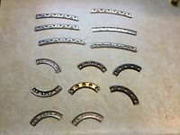Vintage Gilbert Erector Parts Lot Arches 5 1/2 inches & 3 1/2 inches