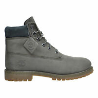Timberland 6Inch Premium Waterproof Big Kids Boots Grey / Brown TB0A1B96 *RARE*