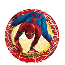 SPIDERMAN CHILDRENS BIRTHDAY PARTY PACK OF 8 DISPOSABLE PLATES, NEW