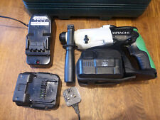 HITACHI KOKI 3 MODE 24V CORDLESS SDS HAMMER DRILL WITH BATTERIES AND CASE