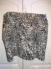 Women's WORTHINGTON Black & Gray Leopard Print Lined Skirt Plus Size 24W