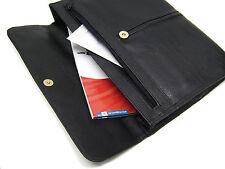 Konferenzmappe Dokumenten Tasche A4 schwarz Kunstleder Aktentasche mit 2 Fächern