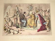 1855 HAND COLOURED COMIC PRINT ~ KING EDWARD MEDICAL