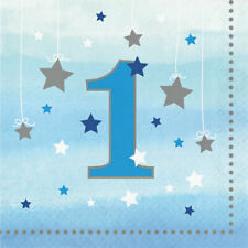Age 1 One Little Star Boy Paper Party Napkins First Birthday Serviettes