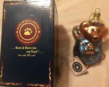 Boyds Bears Resin Celeste Ornament Glass Christmas Angel 391002 Rfb