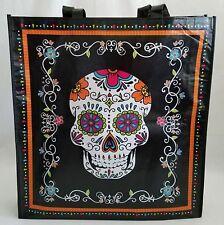 Day of the Dead Dia de los Muertos Jumbo Tote Treat Gift Bag Skull Halloween New