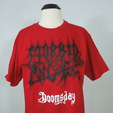 MORBID ANGEL Doomsday Red Graphic T-Shirt Men's size M (NEW w/defect)