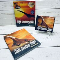 Microsoft Flight Simulator 2000 Bundle PC CD-ROM Software Video Game