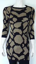 Portmans  Gold & Black,  Acrylic/Nylon/Metalic, 3/4 Sleeve Tunic - Size XS