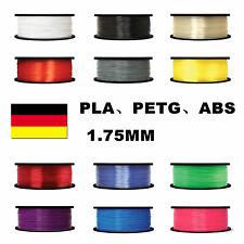 3D Drucker Filament 1 Rolle PLA PETG ABS 1,75mm ⌀ Durchmesser Spule Rolle DE DHL