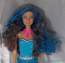 2015 Barbie Rock N Royals Erika Summer Face Brunette w/Blue Streaks Fashion Doll