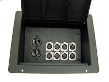 ProCraft Pro Audio Recessed Stage Floor Box 1 Ac Duplex 8 Xlr/Channel Any Config