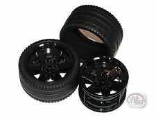 LEGO Technic - Tire x 2 w/ Black Rims - New - (Race, 68.8 x 36 ZR, Wheel)