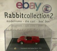 "DIE CAST "" FIAT ABARTH 1000 SPIDER SPORT - 1963 "" + TECA  BOX 2 SCALA 1/43"