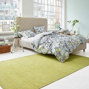 Weconhome Kelim Esprit Rugs 7708 11 in Lime Green Hand Woven Cotton Thin Mats