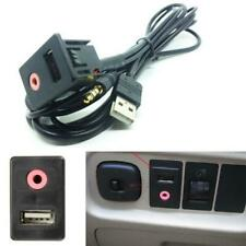 1SET Car AUX Port Socket 3.5mm Plug Adapter USB Charger Audio Earphone Input Kit