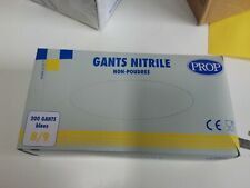 Gloves Nitrile Non Powders Size Large 8/9 Prop Blue Box of 200 Gloves