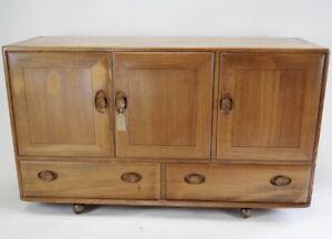 Vintage Ercol Windsor Sideboard in Blonde Model 468 - 1960's Cabinet Cupboard