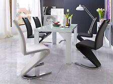 2xSchwingstuhl Amado Freischwinger Stuhl Esszimmerstuhl Chair Stühle -2,4,6,8st