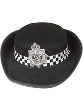 WPC Black Hat Policewoman Police New York Cop Copper Fancy Dress Cap The Bill