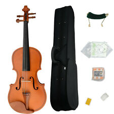 New 1/8 Natural Maple Woood Violin+Case+Bow+Rosin+Shoulder Rest+ String+ Tuner
