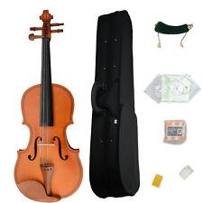 New 1/8 Natural Maple Woood Violin+Case+Bow+Rosin+Shoulder Rest+ String+ Tuner