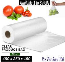 Produce Roll Bags Heavy Duty Food Grade Plastic Freezer Supermarket Bag Gusset